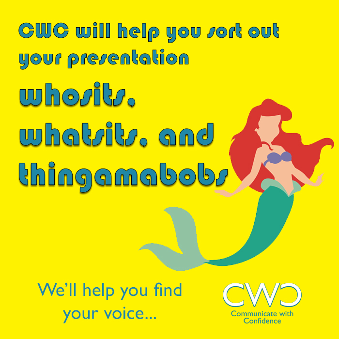 The Little Mermaid image is used to promote Public Speaking Workshops with Communicate with Confidence.