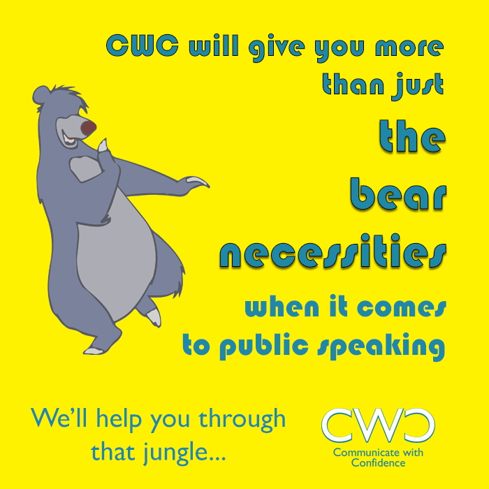 Jungle Book your place on the next public speaking course and learn more that the Bear Necessities